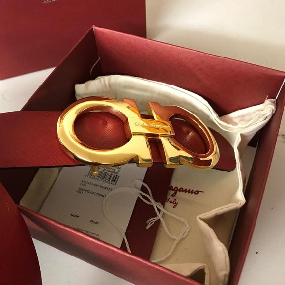 86eabdf9f65d Authentic Salvatore Ferragamo Red black XL belt